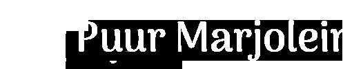 Puur Marjolein logo 2.0 Wit